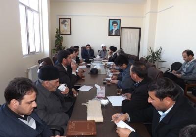 جلسه ستاد ساماندهی شؤنات اسلامی شهرستان ورزقـان