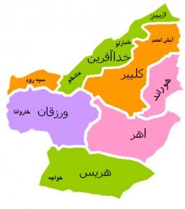 نقشه ارسباران