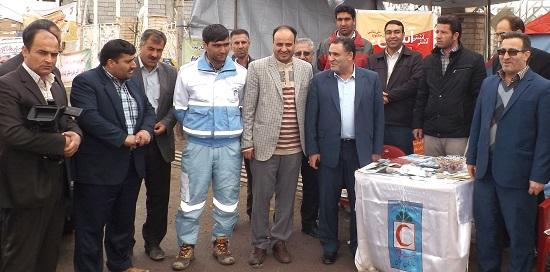 کمپ استقبال از مهمانان نوروزی شهرستان ورزقان