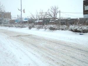 برف در شهر ورزقان