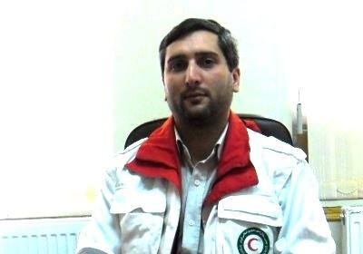 علی غفاری - رئیس جمعیت هلال احمر شهرستان ورزقان