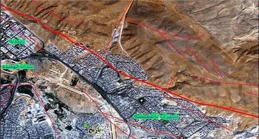 نقشه گسل تبریز