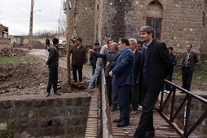 بازدید فـرماندار ورزقان از طرحهای بنیاد مسکن
