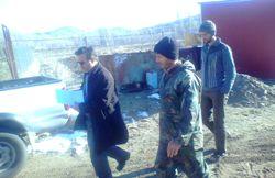 بازديد مهندس فاتح بخشدار مرکزی ورزقان از روستای سردارکندی