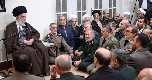 فرمانده معظم کل قوا در دیدار عیدانه فرماندهان ارشد نیروهای مسلح