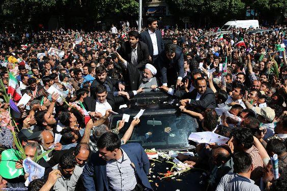 استقبال پرشور دیار ستارخان از دکتر روحانی و کاروان دولت تدبیر و امید