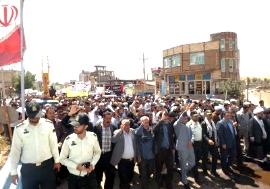 راهپیمایی شهرستان ورزقان
