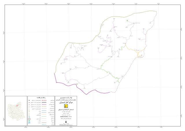 نقشه راه دسترسی روستای بنه دیق در دهستان میشه پاره