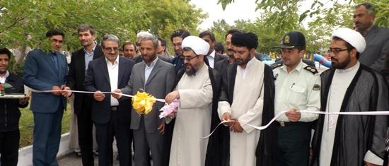 افتتاح طرح های عمرانی در شهر ورزقان